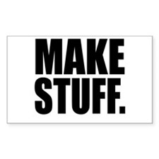"""Make Stuff"" Rectangle Stickers"