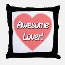Awesome Lover Throw Pillow