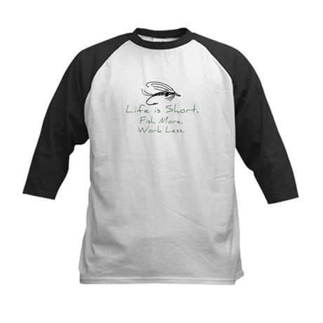 Fly Fishing Kids Baseball Jersey