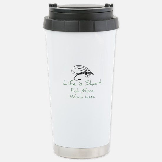 Fly Fishing Stainless Steel Travel Mug