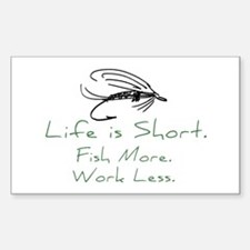 Fly Fishing Rectangle Decal