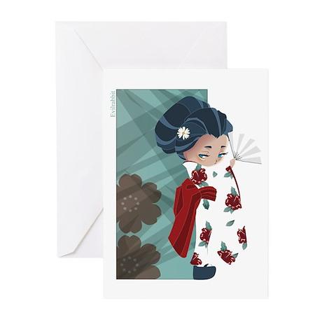 Japanese Flower Greeting Cards (Pk of 20)