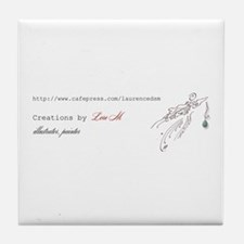 """""""About Lore M, painter, illus Tile Coaster"""