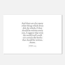 JOHN  21:25 Postcards (Package of 8)