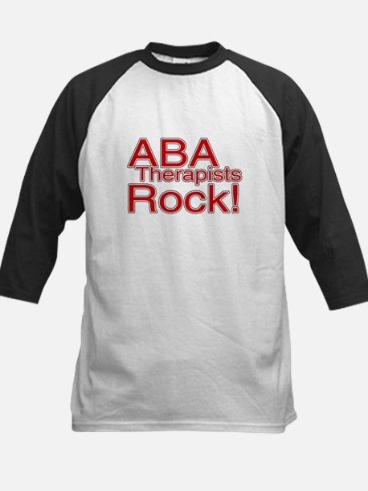ABA Therapists Rock! Kids Baseball Jersey