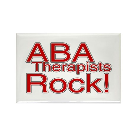 ABA Therapists Rock! Rectangle Magnet (100 pack)