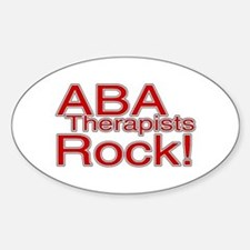 ABA Therapists Rock! Oval Decal