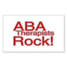 ABA Therapists Rock! Rectangle Decal