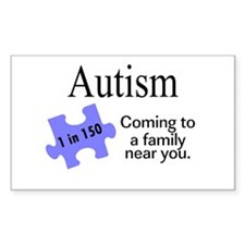 Autism, Coming To A Family Near You Decal