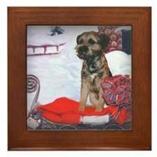 Border Terrier Holiday Framed Tile