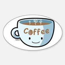 Coffee Morning Oval Decal