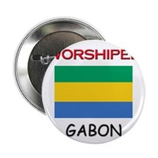 """I'm Worshiped In GABON 2.25"""" Button (10 pack)"""