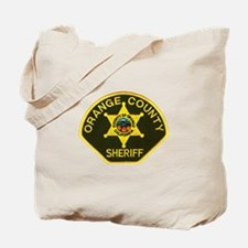 Orange Sheriff Tote Bag