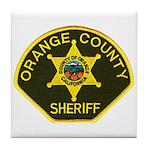Orange Sheriff Tile Coaster