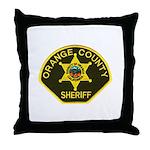 Orange Sheriff Throw Pillow
