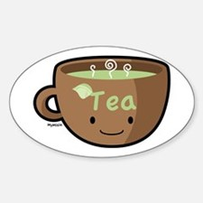 Tea Morning Oval Decal
