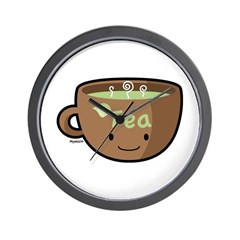 Tea Morning Wall Clock
