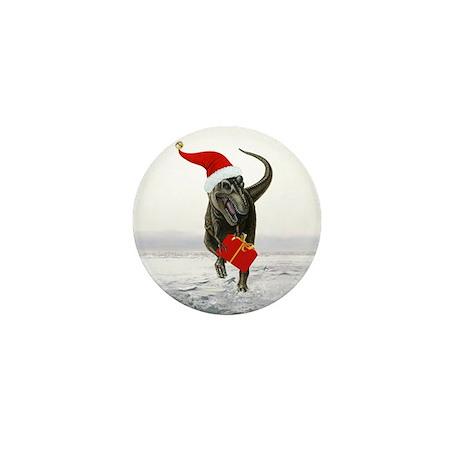 'Santasaurus' T-Rex ~ Mini Button (10 pack)