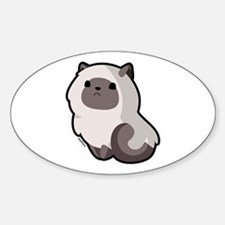 Siamese Cat Oval Decal