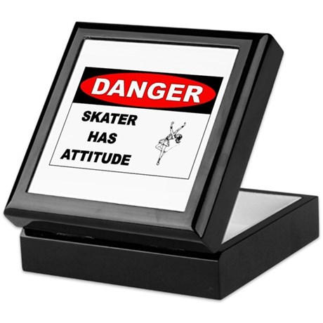 Danger Skater has Attitude Keepsake Box