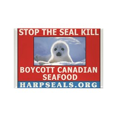Stop the Seal Kill--Red Rectangle Magnet (100 pack