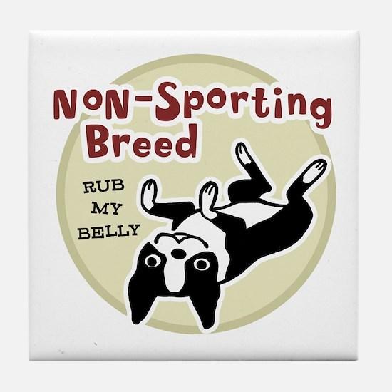 Boston Terrier Nonsporting Tile Coaster