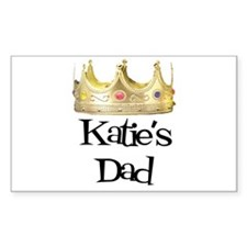 Katie's Dad Rectangle Decal