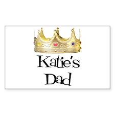 Katie's Dad Rectangle Stickers