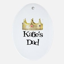 Katie's Dad Oval Ornament