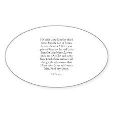 JOHN 21:17 Oval Decal