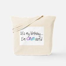 It's My Birthday, I'm One-derful Tote Bag
