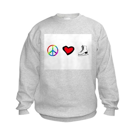 PEACE LOVE SKATE Kids Sweatshirt