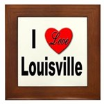 I Love Louisville Kentucky Framed Tile