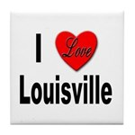 I Love Louisville Kentucky Tile Coaster