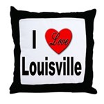 I Love Louisville Kentucky Throw Pillow