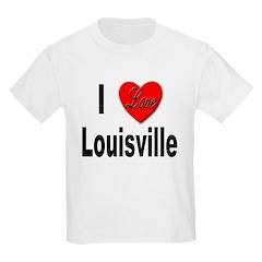 I Love Louisville Kentucky (Front) Kids T-Shirt