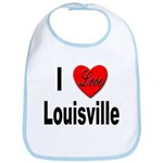 I Love Louisville Kentucky Bib