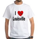 I Love Louisville Kentucky (Front) White T-Shirt