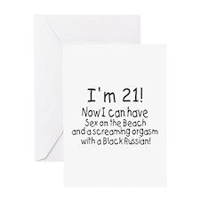 21 Greeting Card