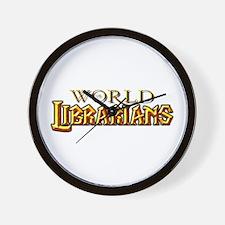 World of Librarians Wall Clock