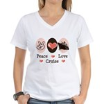 Peace Love Cruise Women's V-Neck T-Shirt