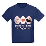 Peace Love Cruise Kids Dark T-Shirt
