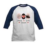 Peace Love Cruise Kids Baseball Jersey