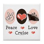 Peace Love Cruise Tile Coaster