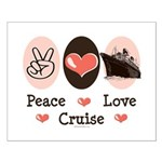 Peace Love Cruise Small Poster