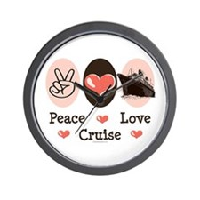 Peace Love Cruise Wall Clock