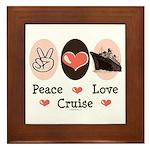 Peace Love Cruise Framed Tile