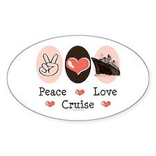 Peace Love Cruise Oval Decal