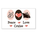 Peace Love Cruise Rectangle Sticker