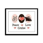 Peace Love Cruise Framed Panel Print